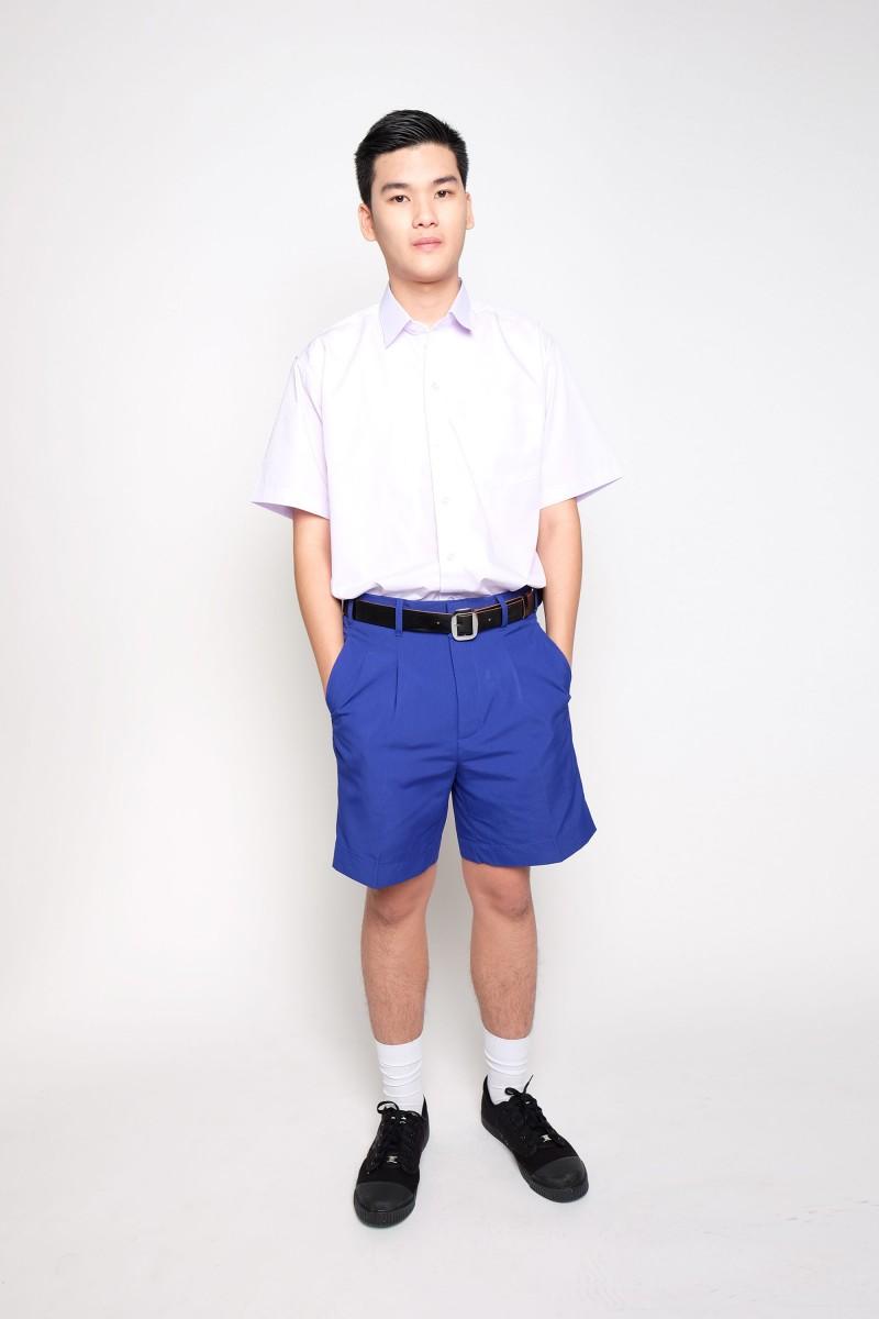 กางเกงสีน้ำเงินสด ผ้าโทเร (ไซส์ใหญ่)