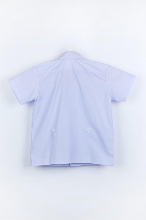 เสื้ออนุบาล เชิ๊ต คอตั้ง กระดุมเอว
