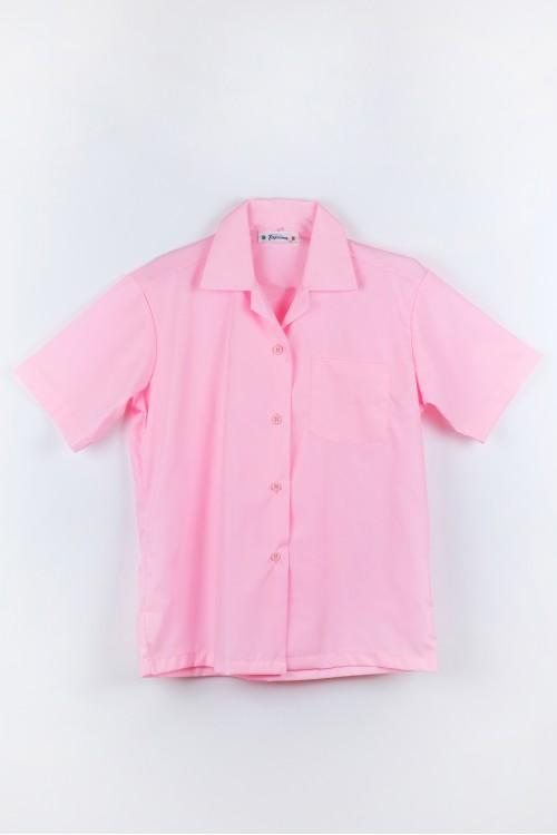เสื้อฮาวาย สีชมพู